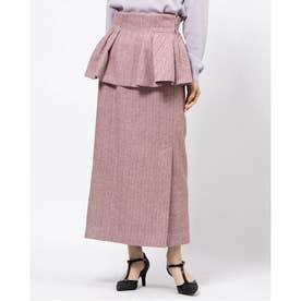 2wayぺプラムタイトスカート (ピンク)