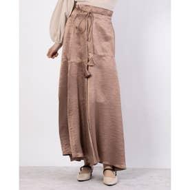 ヴィンテージサテンスカート (モカ)