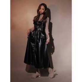 ライダースロングドレス (ブラック)
