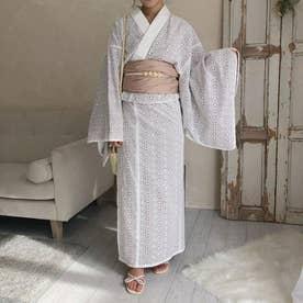 mellow's コットンレース浴衣 (WHITE)