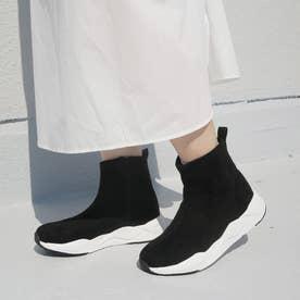 ストレッチスニーカーブーツ (ブラック)