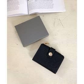 イタリアンレザー二折り財布 (ブラック)