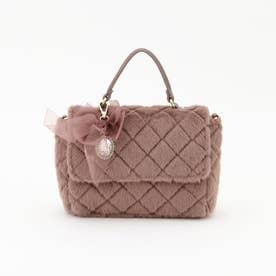 リボンキルトファーバッグ (ピンク系)