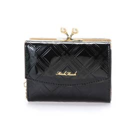 リゼシリーズ エナメル チェック柄 がま口二つ折り財布 (10)
