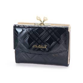 リゼシリーズ エナメル チェック柄 がま口二つ折り財布 (60)