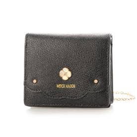 フィナンシェ チェーン付き二つ折り財布 (ブラック)