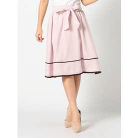 《田中みな実さん着用》ウエストリボン配色スカート (ピンク)