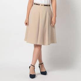 ベルト付きハギスカート (ベージュ)