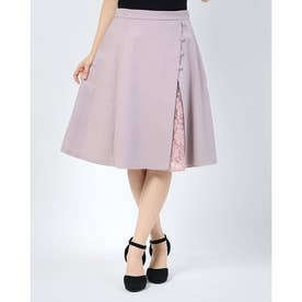 レイヤード風スカート (ピンク)