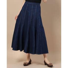 デニムロングスカート (ブルー)