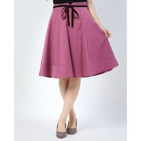 ベロアリボンウーリッシュフレアースカート (ピンク系)