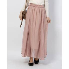 箔ラメロングスカート (ピンク)