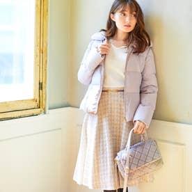 《田中みな実さん着用》ビット付ツィードスカート (ピンクベージュ)