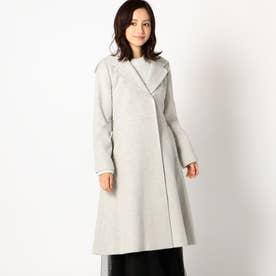 ショールカラーフードコート (グレー系)