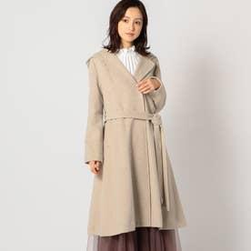 ショールカラーフードコート (茶系)