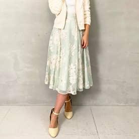オパール花柄スカート (ライトグリーン)