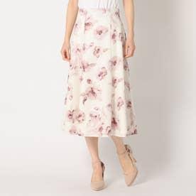 大花柄ハギースカート (ピンク)