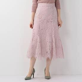 ボタン付マーメイドスカート/MISCHMASCH MAIRY (ピンク)