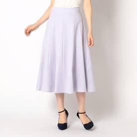 裾切替カラースカート (ラベンダー)