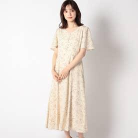 小花柄ロングワンピース/MAIRY (ベージュ)