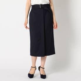 共ベルト付きタイトスカート (ネイビー)