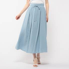 リボン付きボリュームスカート (ライトブルー)