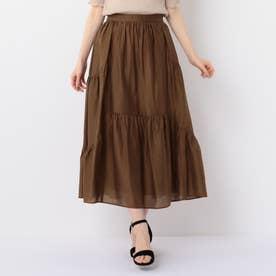 ランダムギャザースカート (ブラウン)