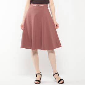 ビット付きカラースカート (茶系)