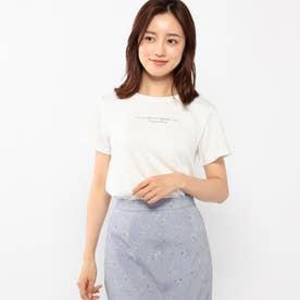 メッセージロゴTシャツ (シロ)