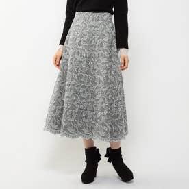 刺繍フレアスカート (グレン)