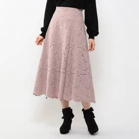 刺繍フレアスカート (ピンク)