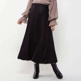 ウエストボタンレーススカート (クロ)