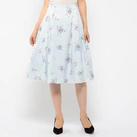 花柄スカート (ライトブルー)