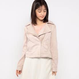 スエードボンディングジャケット (ピンク系)