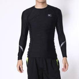 スポーツインナー コンプレッションシャツ K2MJ6W0190  (ブラック×ブラック)