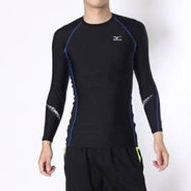 スポーツインナー コンプレッションシャツ K2MJ6W0192  (ブラック×ブルー)