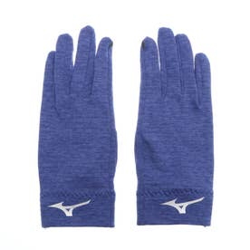 手袋 ストレッチフリース手袋(タッチパネル対応) 32JY060815 (ネイビー)