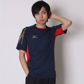 サッカーゲームシャツ ゲームシャツ P2MA501514 ネイビー  (ドレスネイビー×チャイニーズレッド)