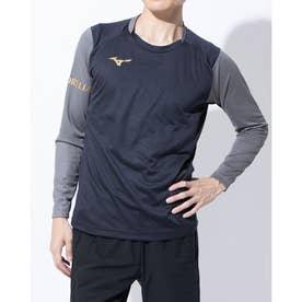 メンズ サッカー/フットサル 長袖シャツ ブレスサーモシャツ P2MA050109 (ブラック)