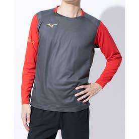 メンズ サッカー/フットサル 長袖シャツ ブレスサーモシャツ P2MA050107 (グレー)