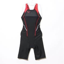 レディース 水泳 競泳水着 STREAM ACE ハーフスーツ(マスターズバック) N2MG024096 【返品不可商品】 (ブラック)