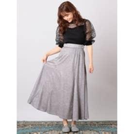 キラキラAラインスカート (グレー)
