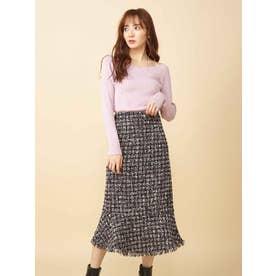 ツィードマーメイドスカート (ブラック)
