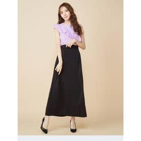 シンプルAラインスカート (ブラック)