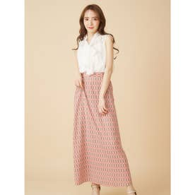 シンプルAラインスカート (ブラウン系)