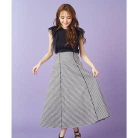 ビックリボンパイピングスカート (チェック)