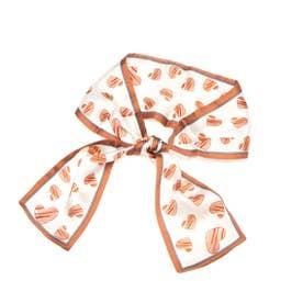 ハート柄スカーフ (オレンジ)