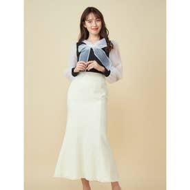 ツイードマーメイドスカート (オフホワイト)