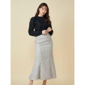 ツイードマーメイドスカート (ライトグレー)