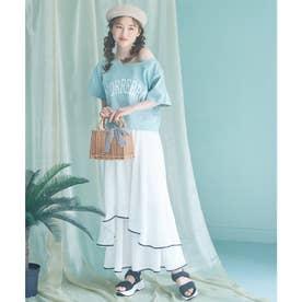 配色パイピングスカート (オフホワイト)